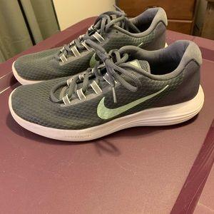 Grey and mint green Nike Lunarlon